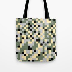 Pixelated Camo Pattern Tote Bag