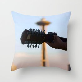 the needle with no damage done Throw Pillow