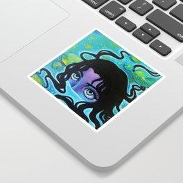 Pond Girl Sticker
