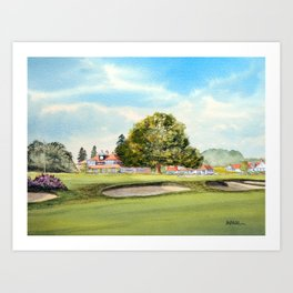 Sunningdale Golf Course 18th Green Art Print