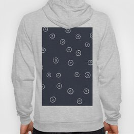 Dreaming and Doodling - circles large navy Hoody