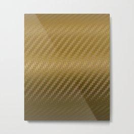 Gold Carbon Metal Print