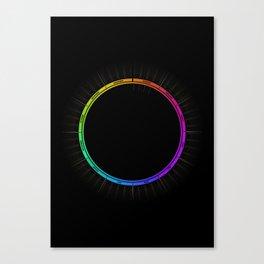 2017 Circular Calendar Canvas Print