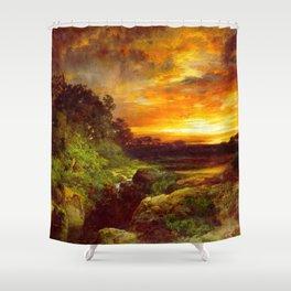 An Arizona Sunset Near The Grand Canyon 1898 By Thomas Moran | Reproduction Shower Curtain