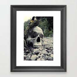 Skulled Framed Art Print