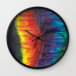 Rainbow Crescendo Wall Clock