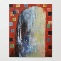 moby dick Canvas Prints featuring Moby Dick by Michael Creese