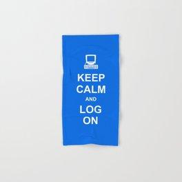 Keep Calm and Log On Hand & Bath Towel