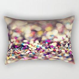 Rainbow Sprinkles - an abstract photograph Rectangular Pillow