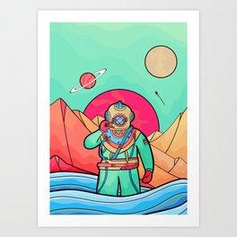 The first explorer  Art Print