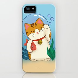 Underwater Lucky Cat iPhone Case