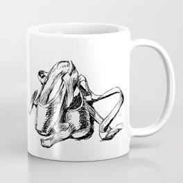Ballet shoes black and white sketch Coffee Mug