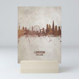 London England Rust Skyline Mini Art Print