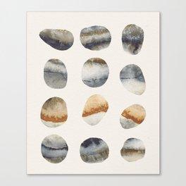 Watercolor Stones Canvas Print