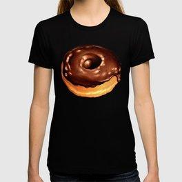 Chocolate Donut Pattern - Teal T-shirt