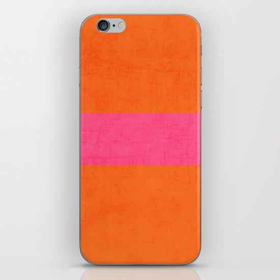 orange and hot pink classic iPhone & iPod Skin