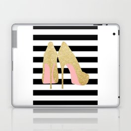 High Heels,Glitter Print,Gold Print,Wall Art,Home Decor,Fashion Illustration,Fashion Print,Gift Idea Laptop & iPad Skin