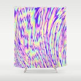 acid trip rainbow Shower Curtain