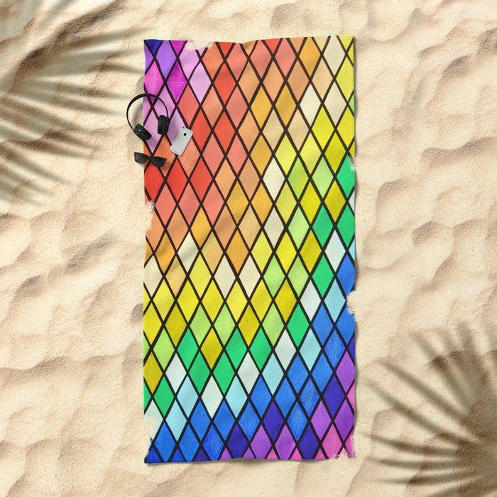 Geo-Pantone Beach Towel
