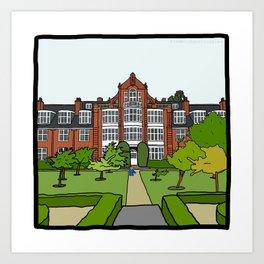 Cambridge Struggles: Newnham College Art Print