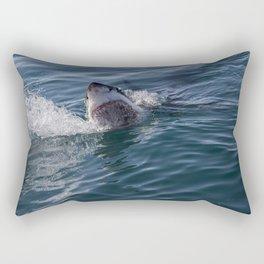 Great White Shark smiles Rectangular Pillow