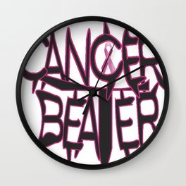 Cancer Beater  Wall Clock
