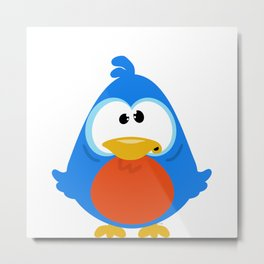 Confused Bird Metal Print