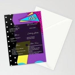 Born in 1980- Birthday Card Stationery Cards