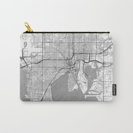 Tampa Map Line Carry-All Pouch