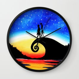 Jack Skellington Starry night Wall Clock