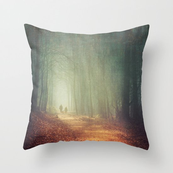 back to light Throw Pillow