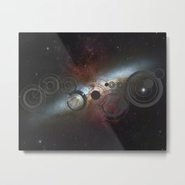 Doctor Who Allons-y Gallifrey  with the Starburst Galaxy M82 Metal Print