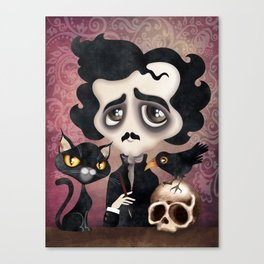 Edgar Poet Canvas Print