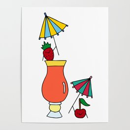Cocktail Umbrella Posters For Any Decor Style Society6