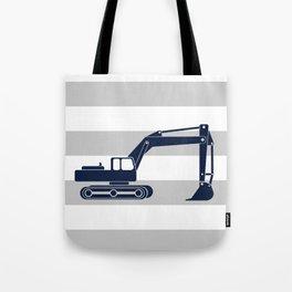 excavator navy Tote Bag