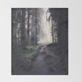 Magical Washington Rainforest Throw Blanket