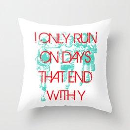 Running Days Throw Pillow