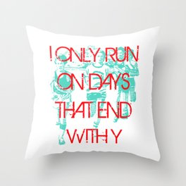Running Days Throw Pillow