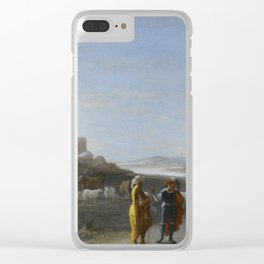 An Italianate Landscape with an unidentified subject from the Old Testament, Cornelis van Poelenburc Clear iPhone Case
