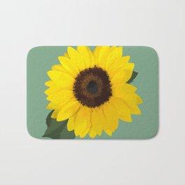 Simple Sunflower Bath Mat