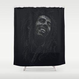 Tuff Gong Marley Text Art Shower Curtain