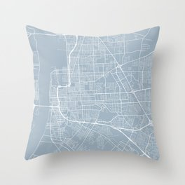 Baton Rouge Map, USA - Slate Throw Pillow