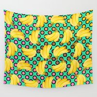 banana Wall Tapestries featuring banana by mark ashkenazi