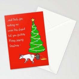 Naughty Dog Christmas Greeting Stationery Cards