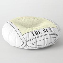 the sun tarot card Floor Pillow