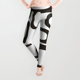 Mid Century Modern Shapes Black And White #society6 #buyart Leggings