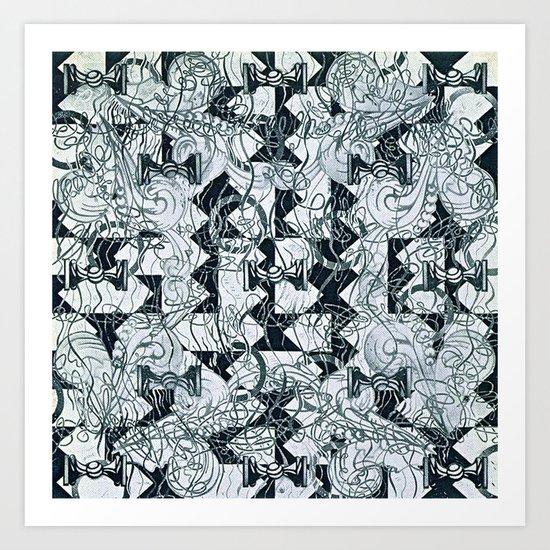 Black Burros Art Print