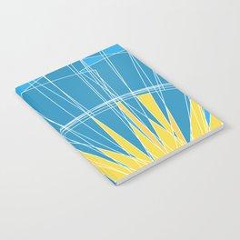 Abstract pattern, digital sunrise illustration Notebook