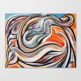 Transmission énergétique du savoir Canvas Print