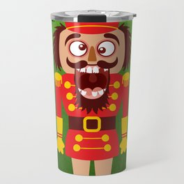 A Christmas nutcracker breaks its teeth and goes nuts Travel Mug